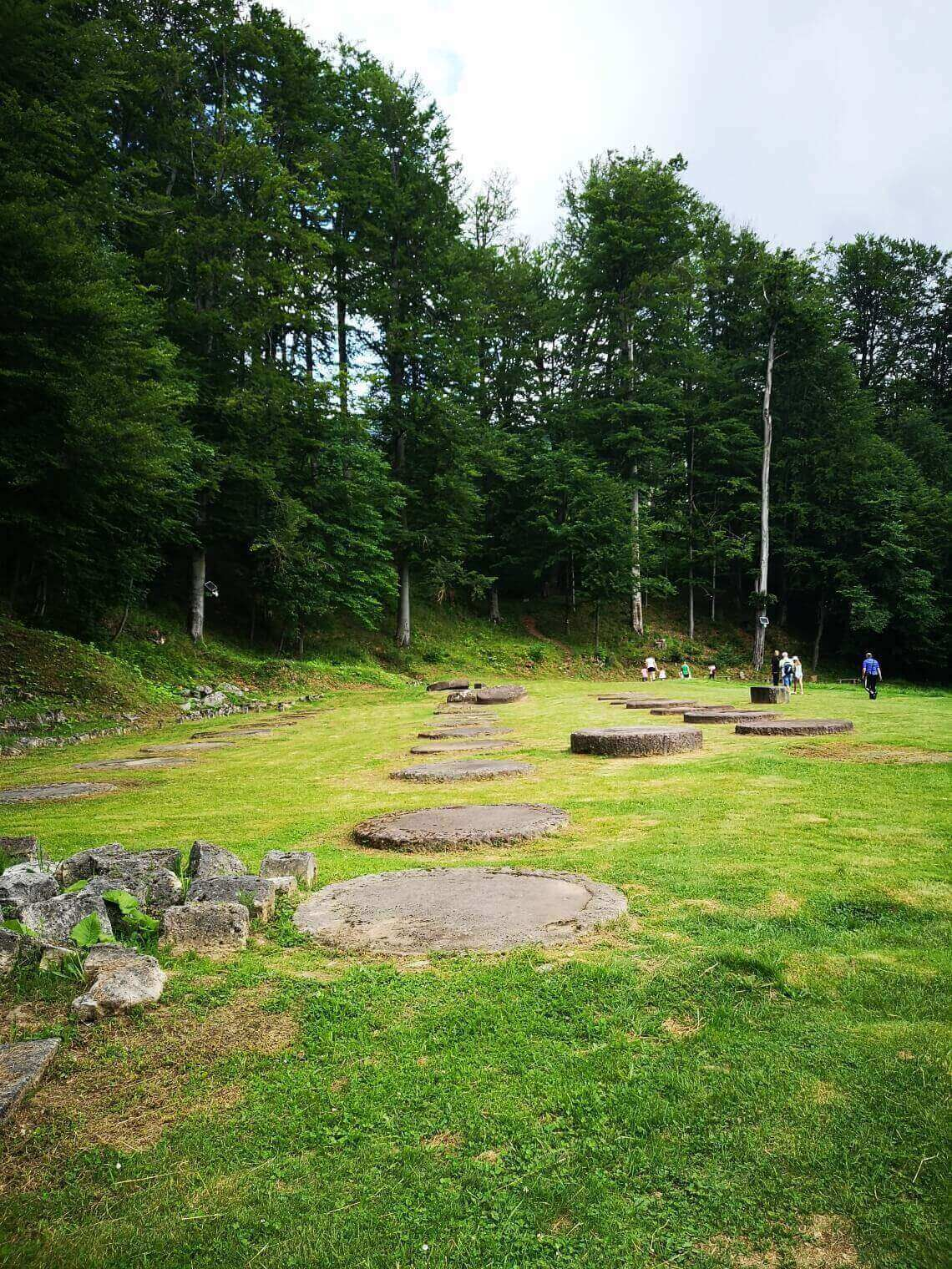 View of ruins of Sarmisegetusza Regia