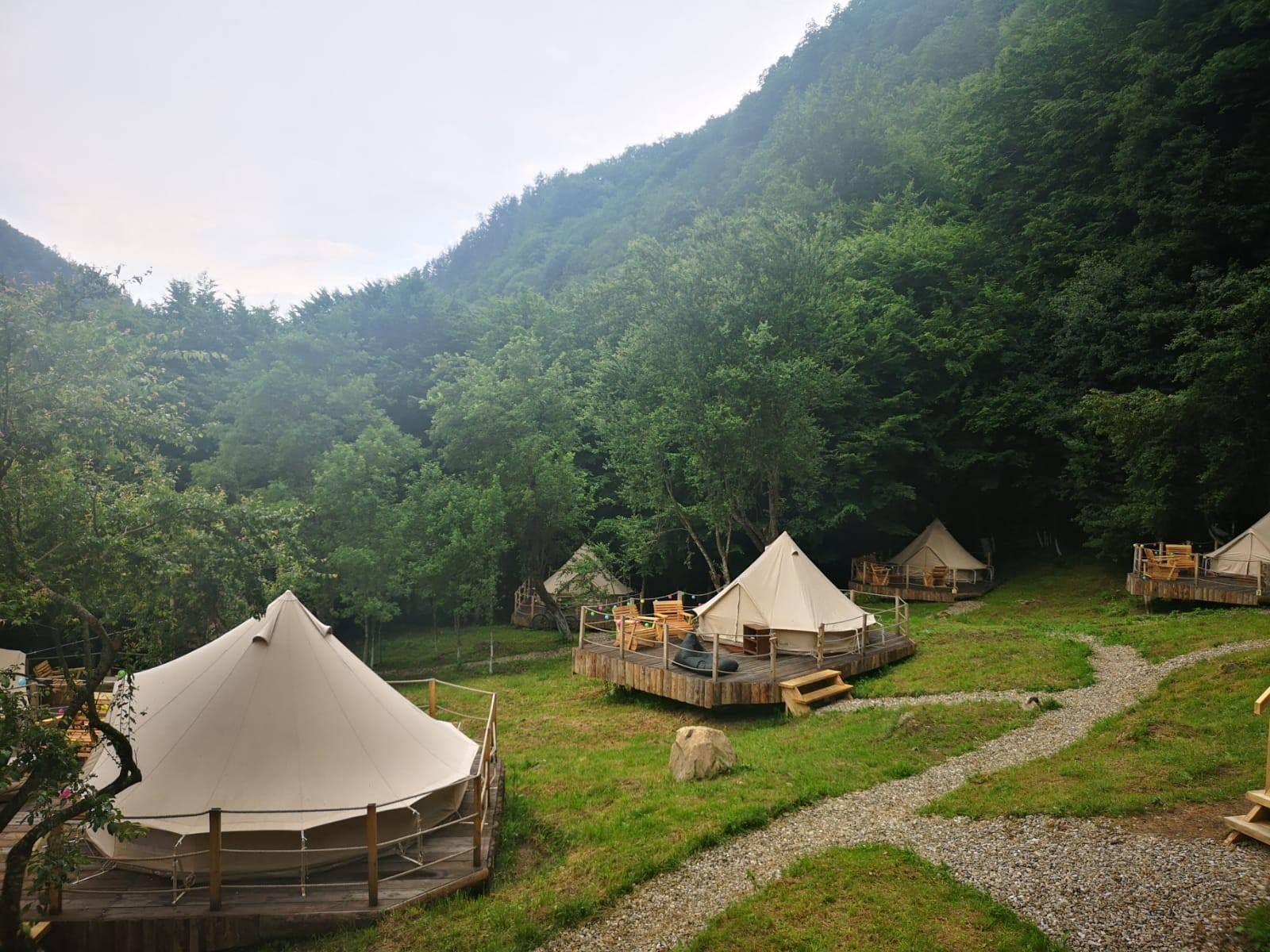 View over the Green Camp Glamping Resort