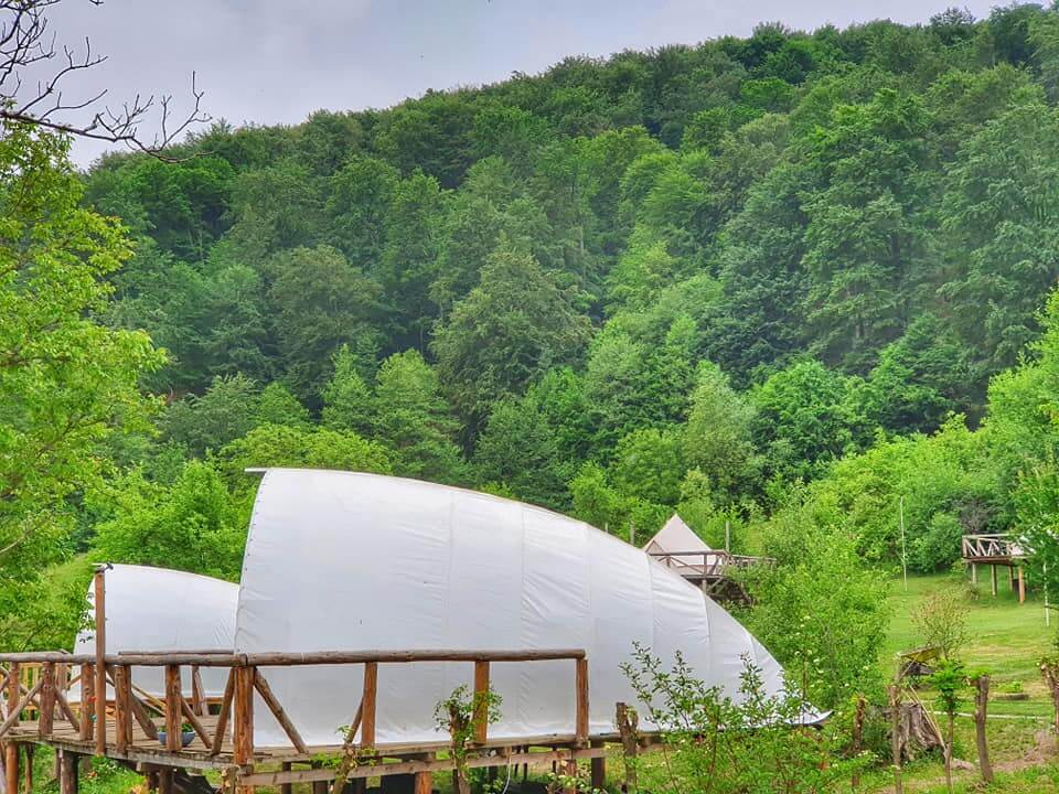 Cocoon luxury glamping tent