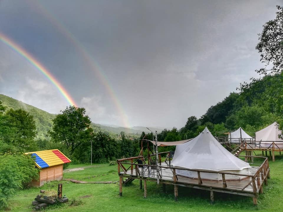 Rainbows view at glamping retreat