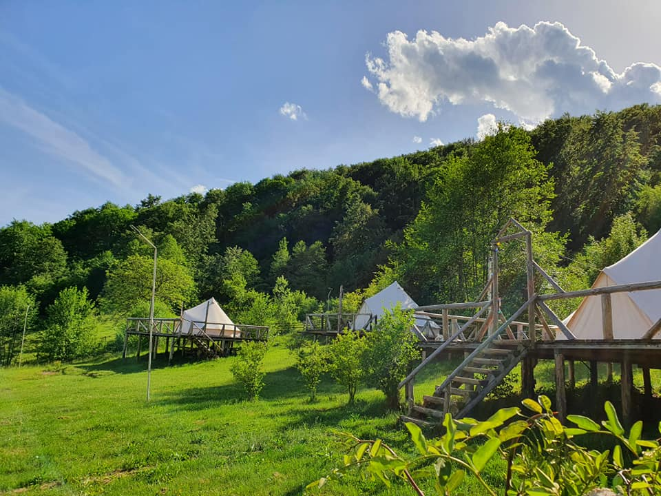 Tents at Sunrise Glamping Retreat