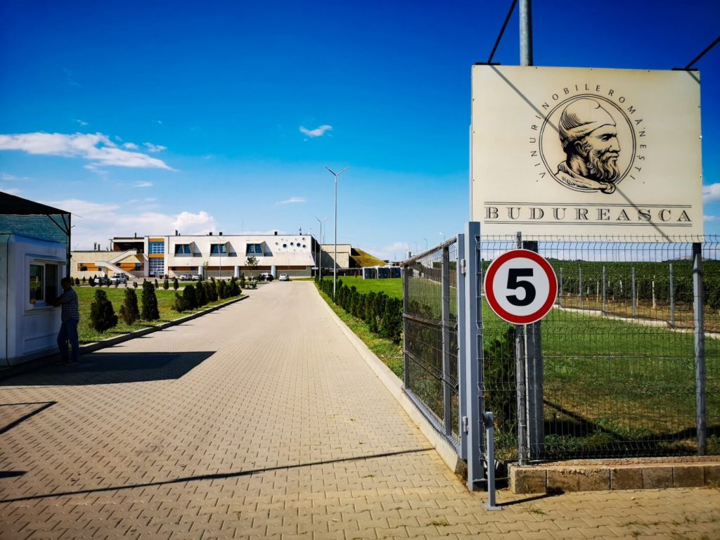 Entrance at Budureasca Winery