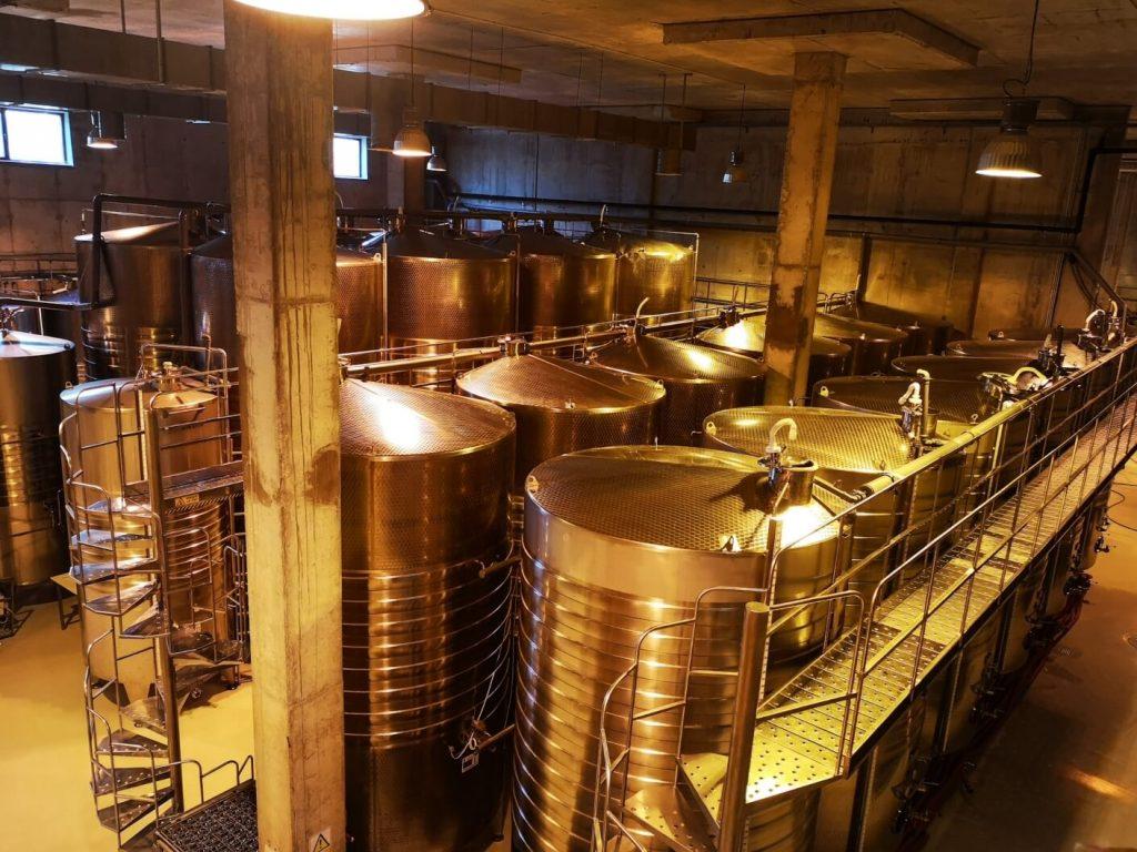 View inside Budureasca winery