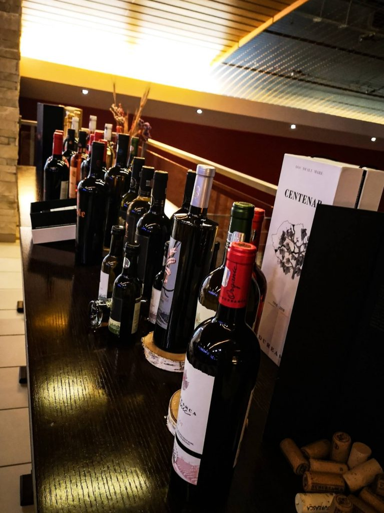 Wine selection from Budureasca winery