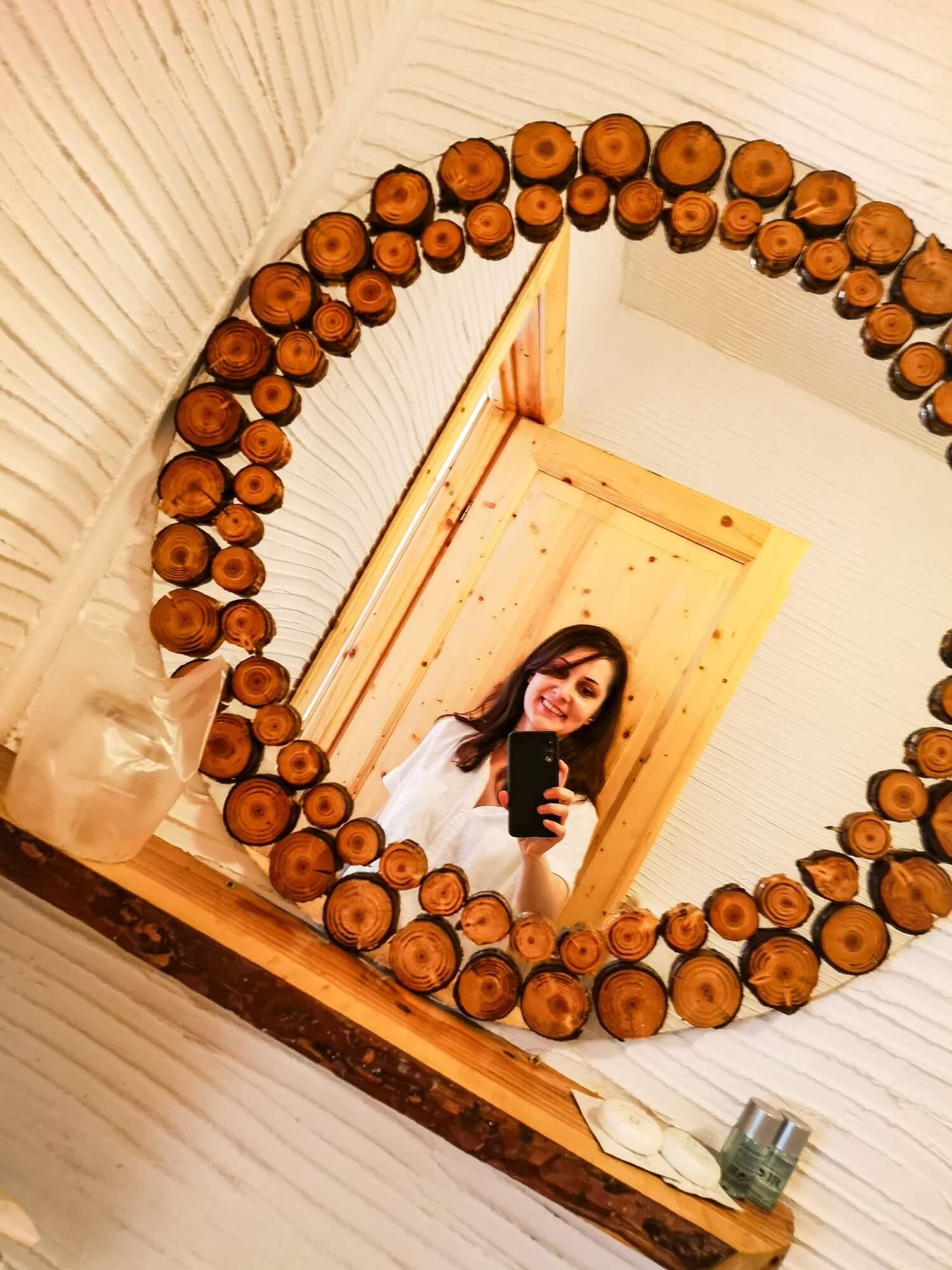 Slefie in the bathroom mirror