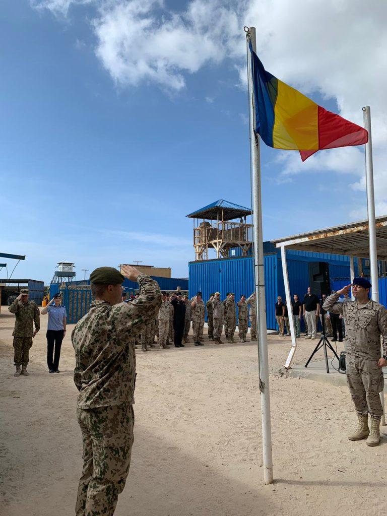 military parade inside compound