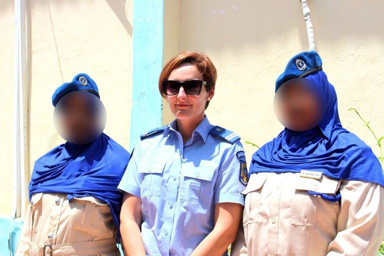 3 girls in uniform