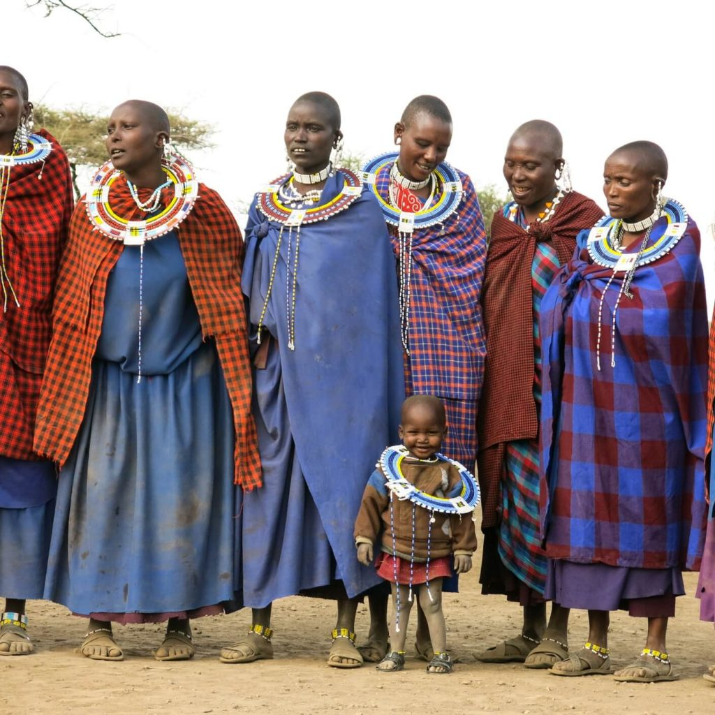 Masaai women and a child