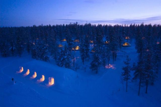 Kakslauttanen Arctic Resort exterior view