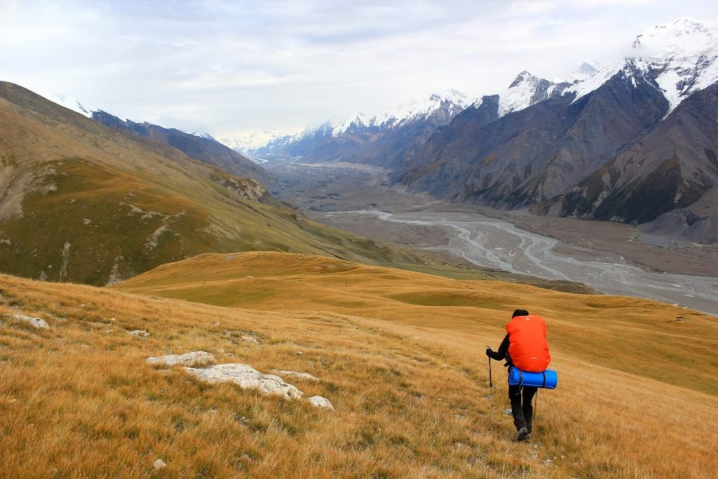 trekking in the mountains