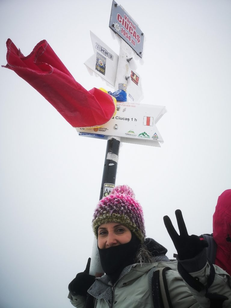 Girl on Ciucas peak