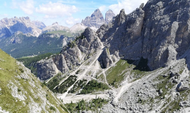 view over the Dolomites - Italy