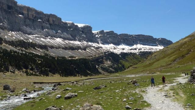 people hiking in Ordesa National Park - Europe