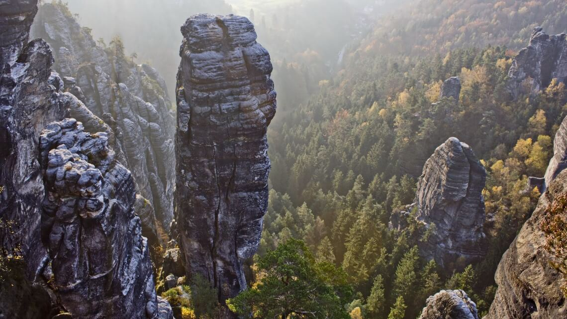 View from above of Bastei area