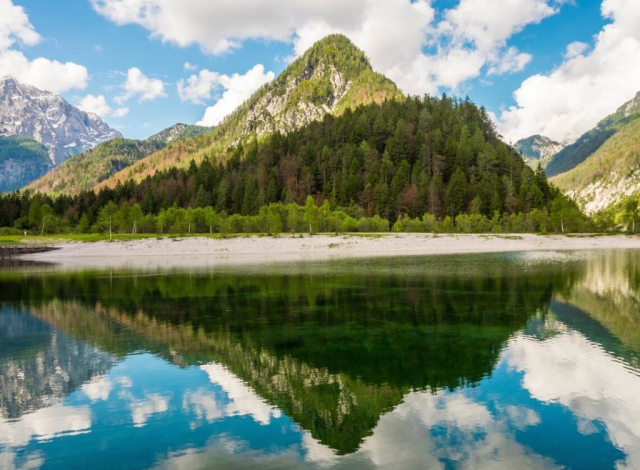 view over the mountains and lake - Triglav National Park