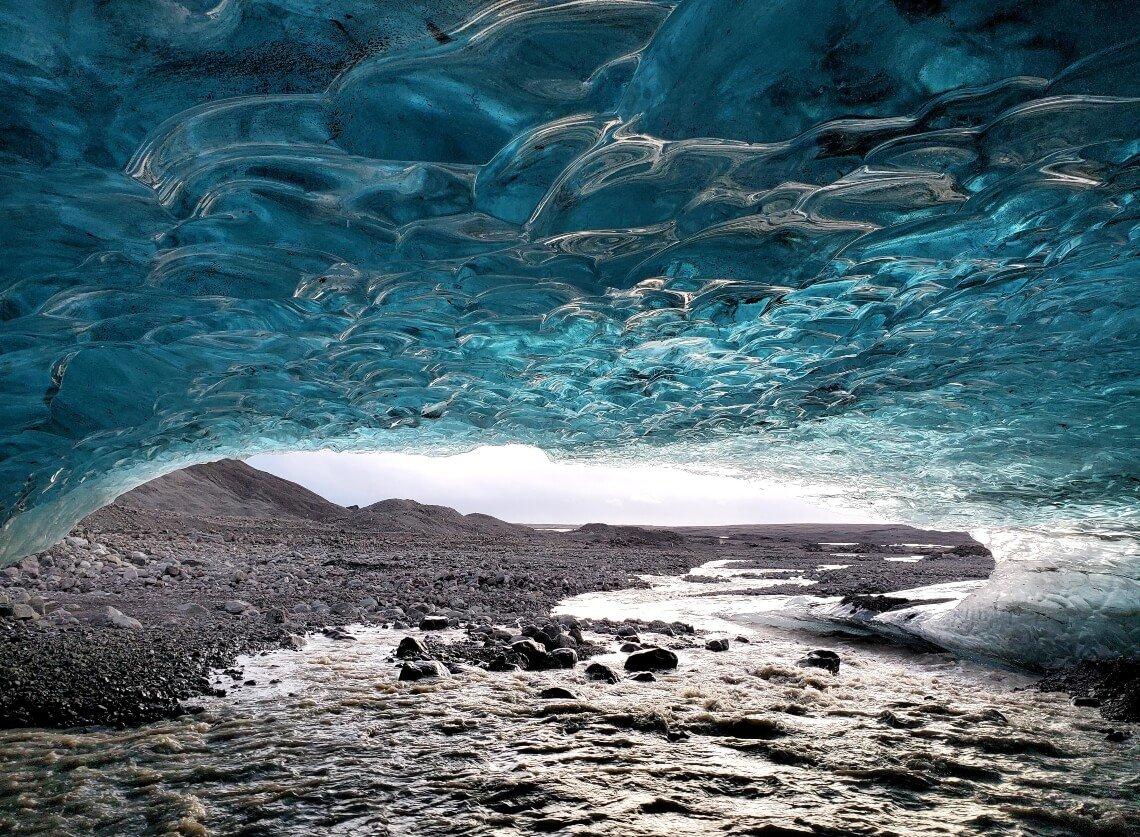 Ice caves in Vatnajokull National Park