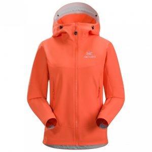 Orange softshell jacket