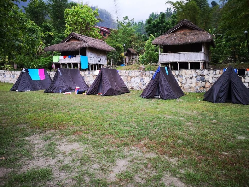 Tents at the rafting camp - Nepal
