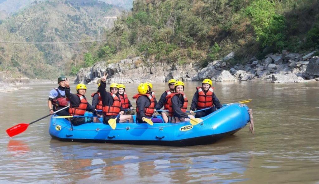 Rafting on the Trishuli river in Nepal