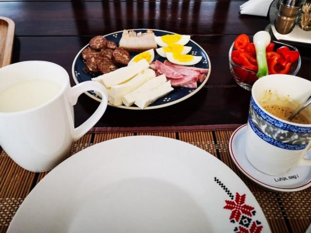 breakfast at Casa din Susani, Maramureș, Romania