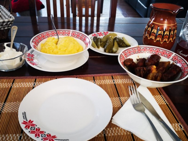 dinner at Casa din Susani, Maramureș, Romania